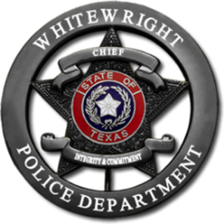 Whitewright Police Department badge